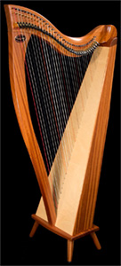 Picture of a Dusty Strings Crescendo Celtic Harp