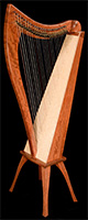 Picture of Bubinga FH26 Celtic Harp