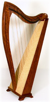 Picture of Bubinga FH32 Celtic Harp