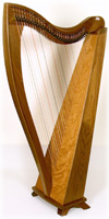 Picture of Walnut FH32 Celtic Harp