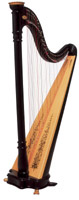 Picture of Ebony Prelude Lever Harp