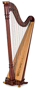 Picture of a Lyon & Healy Prelude Lever Harp