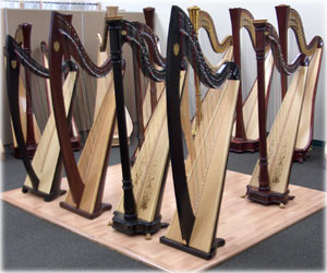 Picture of Lyon & Healy and Salvi Lever Harps