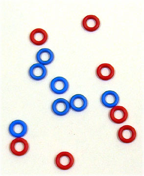 Picture of Color Rings - Lever, Red and Blue Color Rings