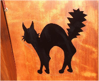Picture of Removable Harp Decal, Black Cat