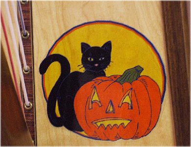 Picture of Removable Harp Decal, Hallowe'en Duo