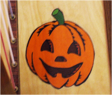 Picture of Removable Harp Decal, Jack O'Lantern
