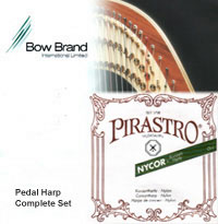 Picture of Bow Brand - Pirastro Complete Set 44 String Pedal Harp w/Pirastro Nylon 1st - 2nd Octave